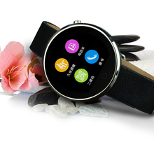K5 2016 New Smart Watch Genuine Leather Sport watches Call SMS Sync Notifier Music Anti lost