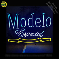 Modelo Especial Custom Neon Sign neon bulb Sign light glass Tube Handcraft light Decorative Room Wall Bright Color Advertisement