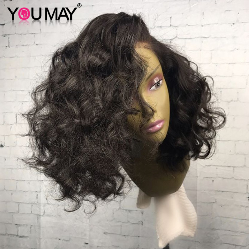 360 Lace Frontal Wigs For Women Pre Plucked Brazilian Short Bob Lace Front Human Hair Wigs