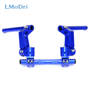 "Image 1 - LMoDri Motorcycle CNC Adjustable Steering Handlebar 7/8"" Removable Handle Bar System 125cc Pit Bike Dirt Bike Motocross Scooter"