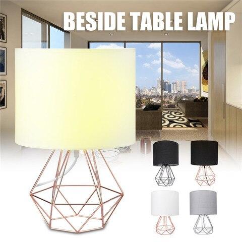 suporte base da lampada candeeiros de mesa e27 decorativa geometrica retro sombra luzes de cabeceira