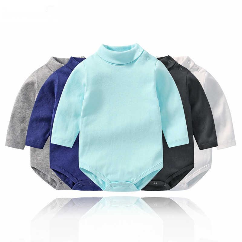 Lawadka водолазка зимнее боди для ребенка мальчика однотонный комбинезон для малышей с длинными рукавами хлопковый костюм Одежда для новорожденных
