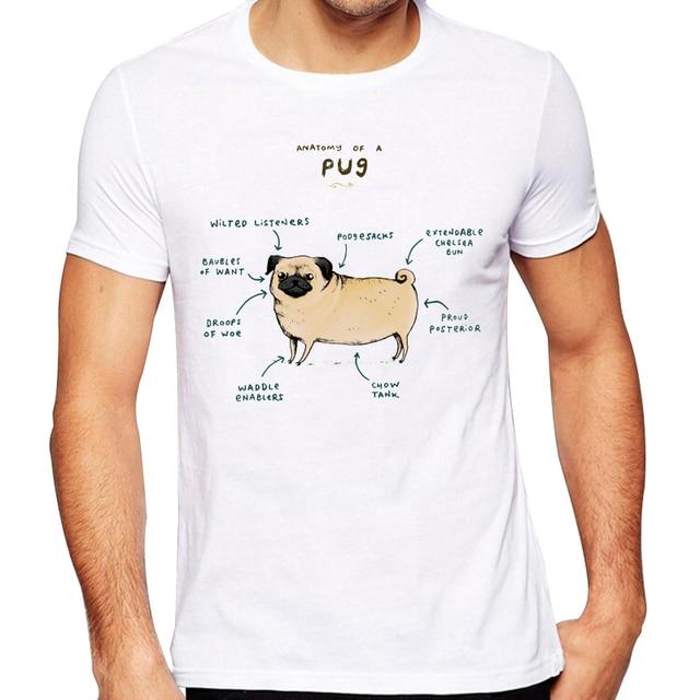 Mens 2018 Fashion Anatomy Of A Pug Design T Shirt High Quality Cool