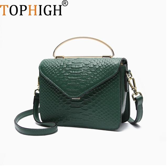 1369622a29 TOPHIGH Luxury Handbag Women Bag Printed Snake Crocodile Skin Jelly Bag Tote  Python Designer Purse Female
