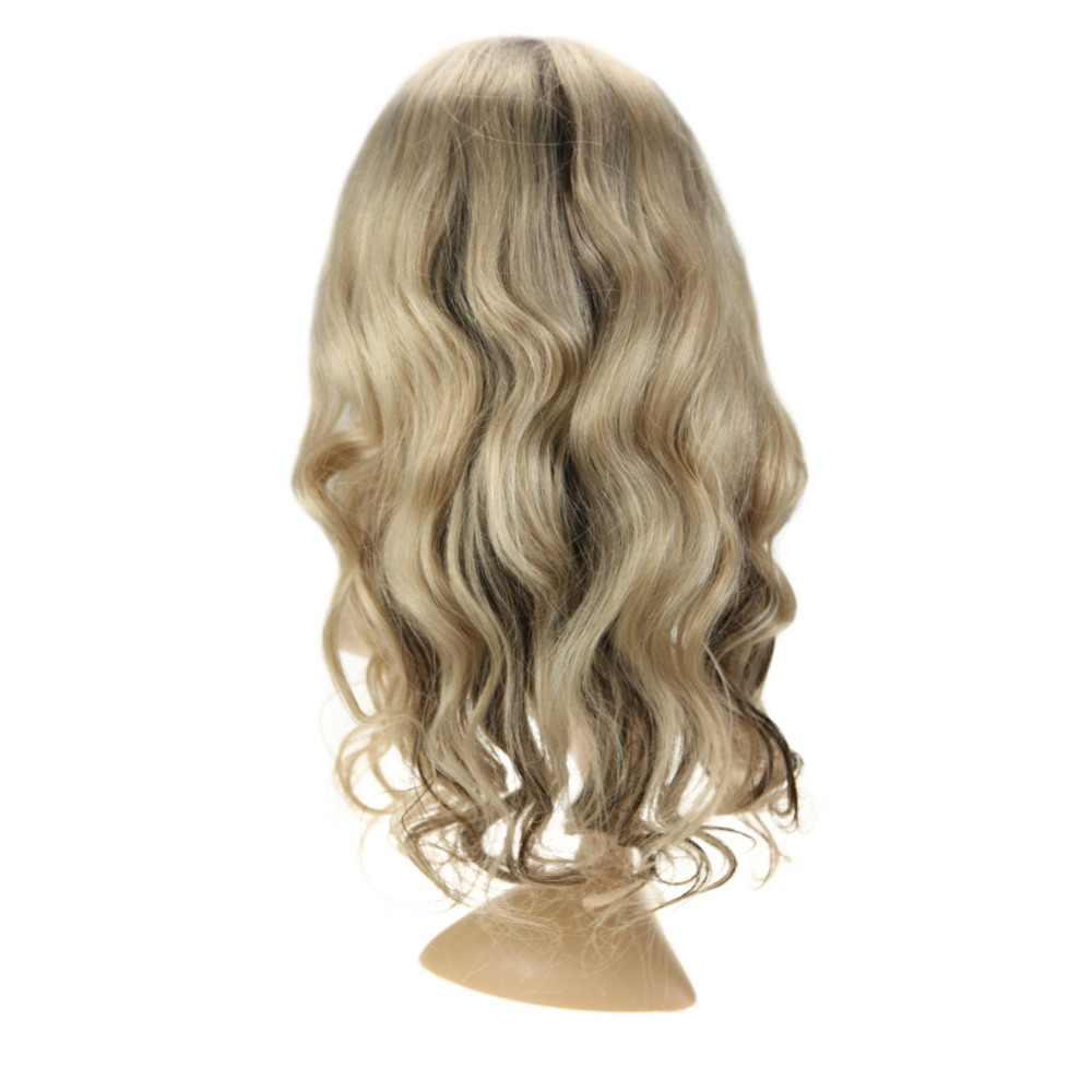 Полный блеск синтетические волосы на кружеве парик с натуральные Детские волосы Цвет #4 выцветания до #18 выделен #4 130% плотность волос парики для белы