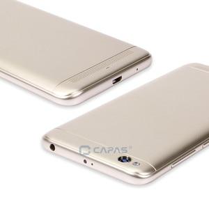 Image 5 - Orijinal Xiaomi Redmi Için 5A Arka Pil Konut Kapak Redmi 5A Arka Kapak + Kamera Cam + Yan Tuşları Düğme onarım Yedek Parça