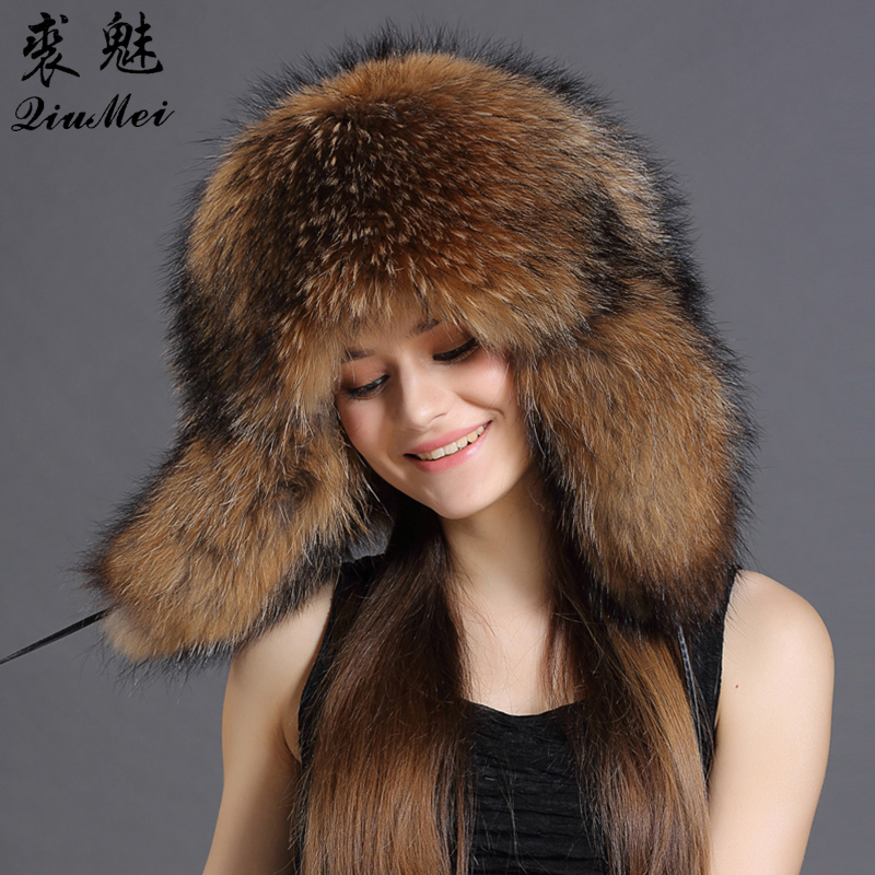4e9a8370976 Adult Bomber Hat Mens Trapper Ear Protection Warm Hats Mens Winter Snow Caps  Windproof Russian Fur ...