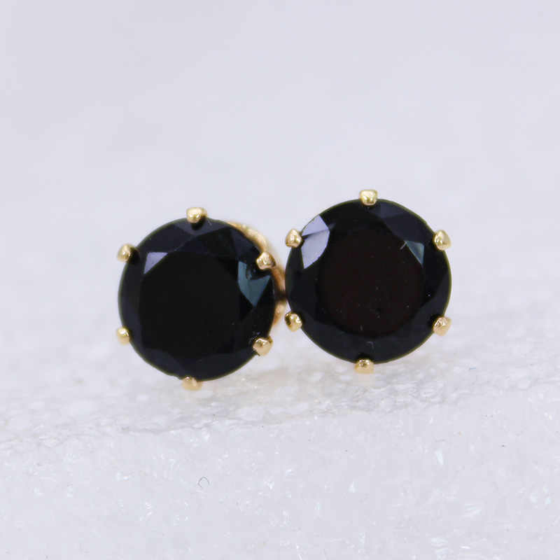 shiny side fashion  jewelry classical crown stud earrings for women crystal simple statement earrings free shipping
