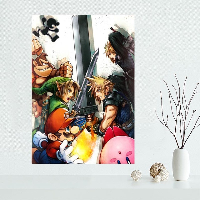 Custom Super Smash Bros Canvas Poster Home Decoration poster cloth fabric Canvas Painting wall poster print 5