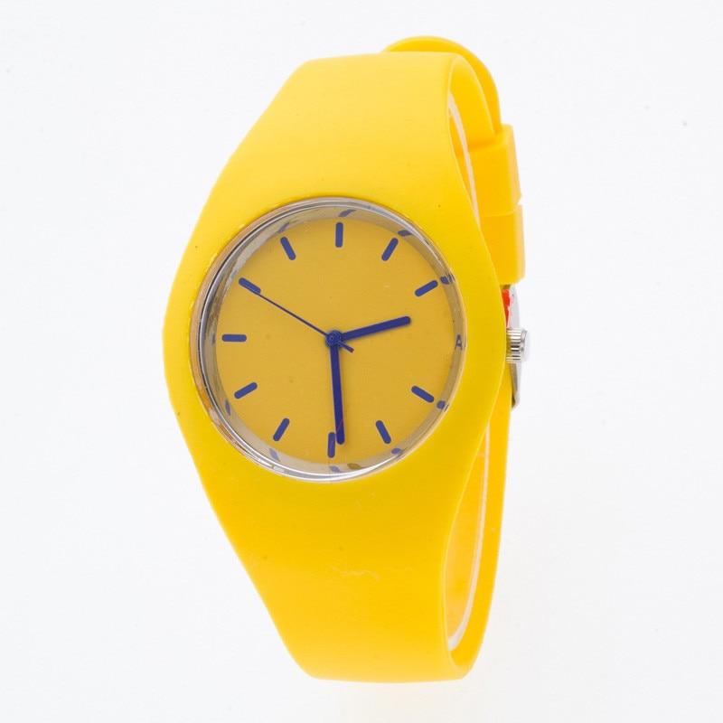 Zegarki sportowe dla Pani Kolorowe Silikonowe Bransoletki Zegarek - Zegarki damskie - Zdjęcie 1