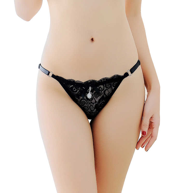 fb047581746f Women Sexy Lingerie hot erotic Panties lace underwear underpants knickers  transparent bikini tanga briefs with adjustable