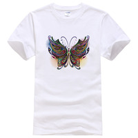 2019 Summer Fashion Male butterfly T shirt Men Cotton Short Sleeve 3D Printed Tops Camisa Hipster Cool Tees WQ