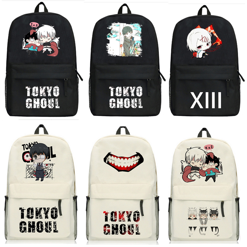 Anime Tokyo Ghoul Backpack Kaneki Ken JUZO SUZUYA / REI Oxford Student School Bag Unisex lace short sleeve patchwork kids dresses for girls 2018 baby girls dress summer princess dress baby children clothing 10 12 14 y