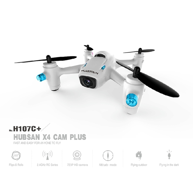 2016 Hot Sale New Profession drones best quadrocopter Hubsan X4 Camera Plus H107C+ 2.4G RC Quadcopter with 720P Camera RTF
