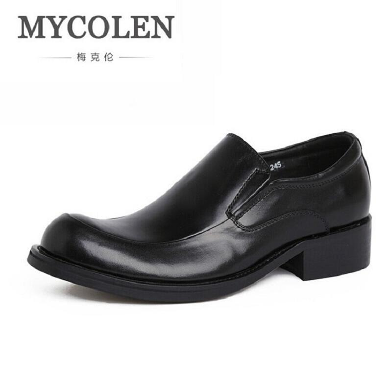 MYCOLEN Men Brand Designer Slip On Formal Shoes Male Homecoming Dress Shoes Wedding Prom Mens Loafers Sapato Social Masculino 2017 new fashion italian designer formal mens dress shoes embossed leather luxury wedding shoes men loafers office for male