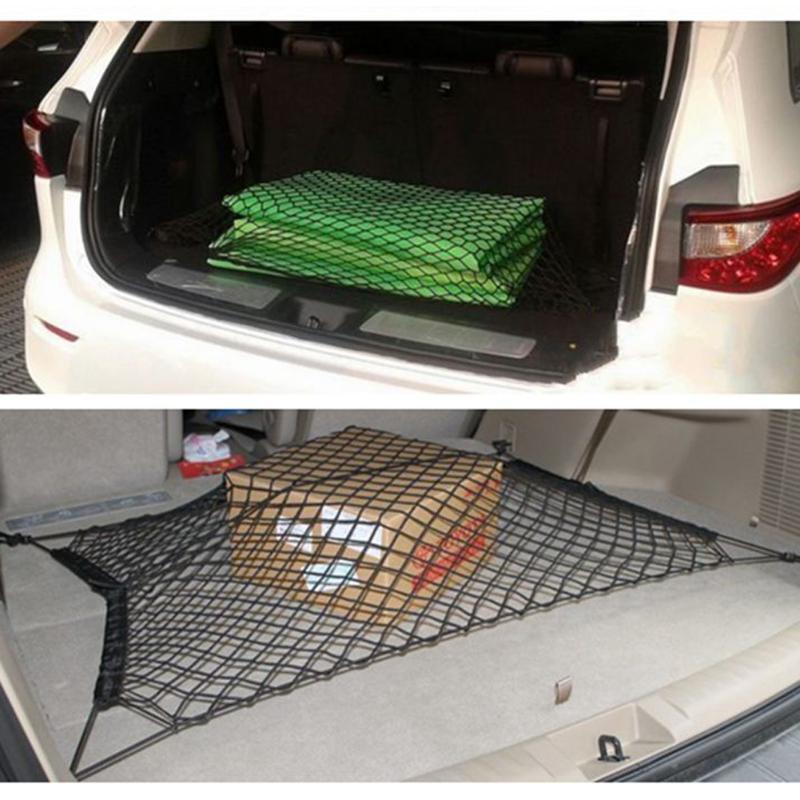 120x60 см, автомобильный стиль, Сетчатая Сумка для багажника, эластичный нейлон, для автомобиля, задний грузовой багажник, органайзер для хранения, держатель для багажа, автомобильный аксессуар
