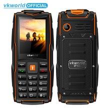 VKWorld جديد حجر V3 IP68 مقاوم للماء 2.4 بوصة 3000mAh الهاتف المحمول GSM FM لوحة مفاتيح روسية 3 فتحات بطاقة SIM ضوء فلاش الهاتف المحمول