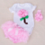 Primer Cumpleaños de los Bebés Tutu Set Flores Apliques Bodysuit 3 pcs Pantalones Fijados para Los Recién Nacidos Que Arropan el Traje de Fiesta Tutu dress