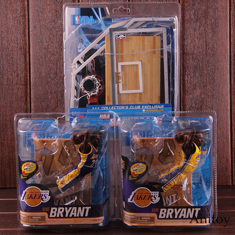 Basketball Star LOS ANGELES LAKERS Kobe Bryant 24 / Basketball Backboard NBA Action Figure PVC Collectible Model Toy trevor ariza autographed signed 8x10 photo lakers nba finals free throw coa