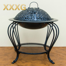 XXXG//The new iron stove in winter indoor and outdoor wood charcoal brazier heater heater smokeless charcoal stove