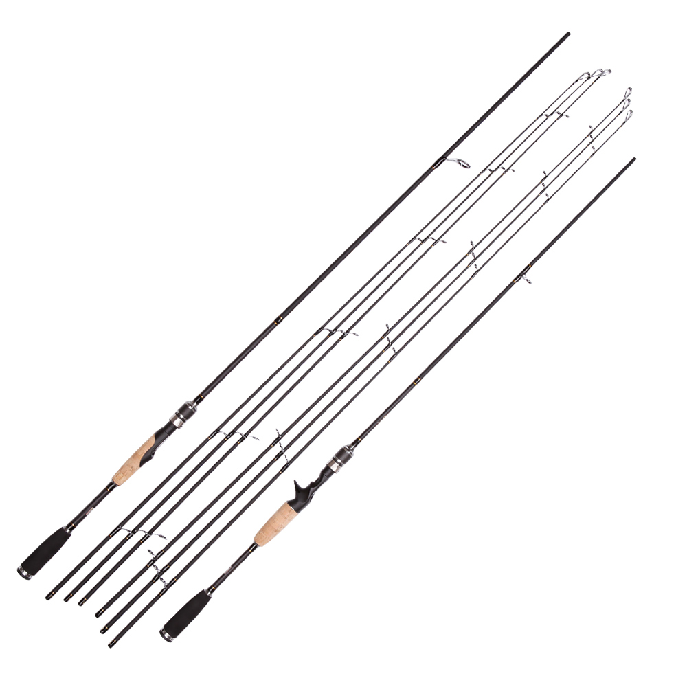 цена на Spinning Rod 2.1m 2.4m Ultralight Carbon Fishing Rod 3 Tips ML M MH Casting Rod Fast Lure Feeder Rod Fishing Pole 2 Sections