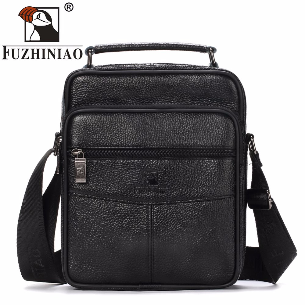 FUZHINIAO Genuine Cow Leather Messenger Bags Men Travel Business Crossbody Shoulder Bag for Man Sacoche Homme Bolsa Masculina qibolu handbag men bag briefcase business travel laptop messenger crossbody shoulder bag sacoche homme bolsa masculina mba17