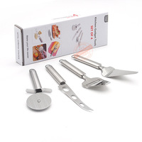 Stainless Steel Kitchen Gadget Tools Set Pizza Tools Pizza Wheel Cutter Cake Knife Cheese Scraper Cheese