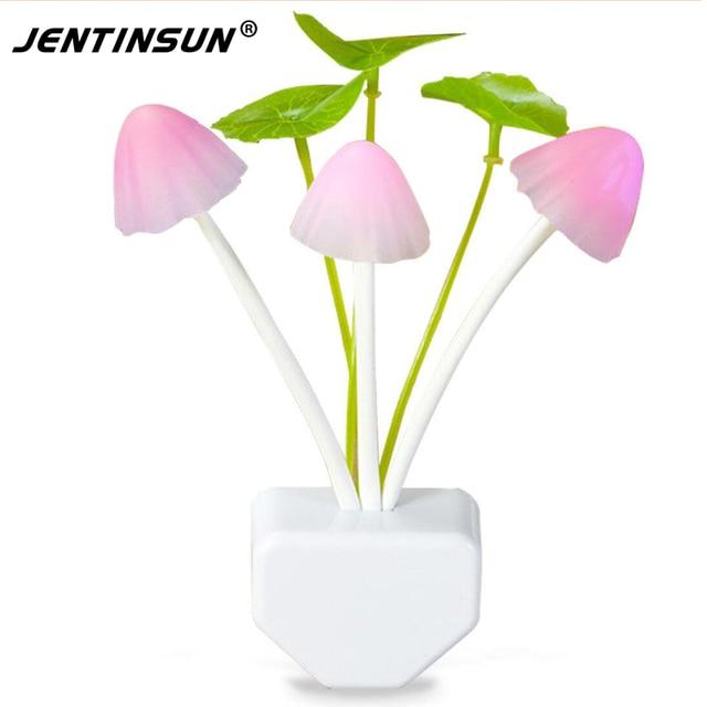 US/EU Plug Changeable Colorful LED Lamps Mushroom Night Light Bed Lamp Home Illumination Wireless Light Sensor Automatic Startup