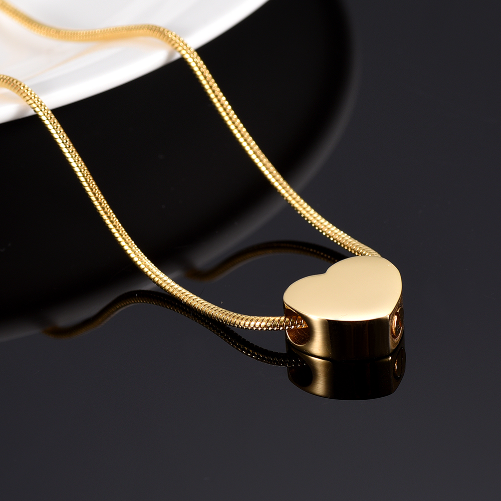 Blank Small Heart Ash Keepsake Urns Necklace Pet Dog Cat Memorial Urn Necklace Hold Ashes Cremation Jewelry Pendants Women