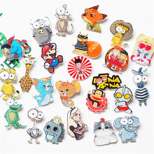 1Pcs Cartoon Cute Monkey Zebra Mouse Alice Acrylic Brooch Badges Backpack Clothes icon Decoration Brooches Pins For Women/Men(China)