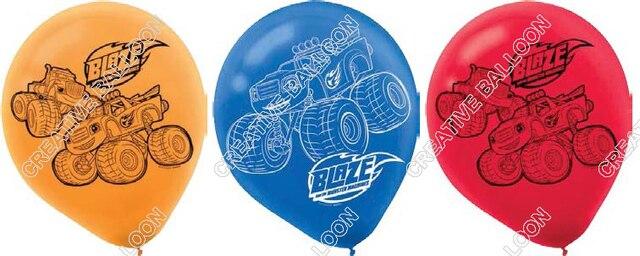 Polegada 12 12 pçs/lote Chama Monstro Globos de Balão De Látex da Festa de Aniversário Suprimentos Decoração Crianças Brinquedos