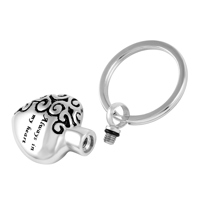 Always in My Heart Urn Keychain