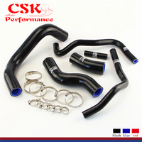 Radiator Coolant Silicone Hose + Clamps Fits for 2013 2014 Subaru BRZ FR S GT86 Blue / Black / Red
