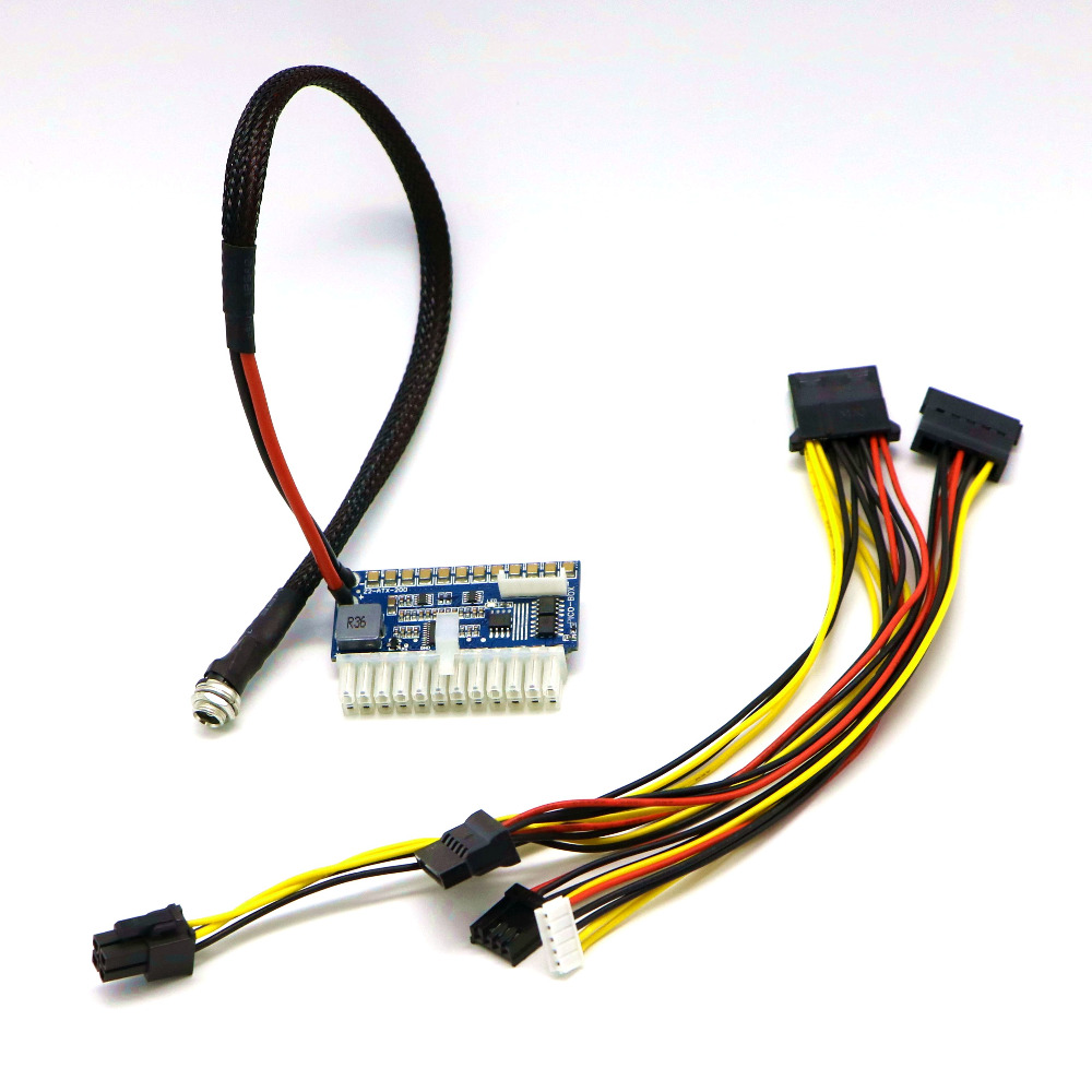 PICO-PSU 200 Watt 24Pin ATX Power Module. dc dc atx psu 12v 250w pico atx switch pico psu 24pin mini itx dc to car atx pc power supply for computer
