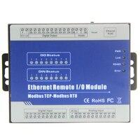 Ethernet RJ45 дистанционного IO модуль modbus TCP конвертеры 8 аналоговые входные сигналы 8 электронные сигареты с цифровым выходом IOT RTU мастер M160T