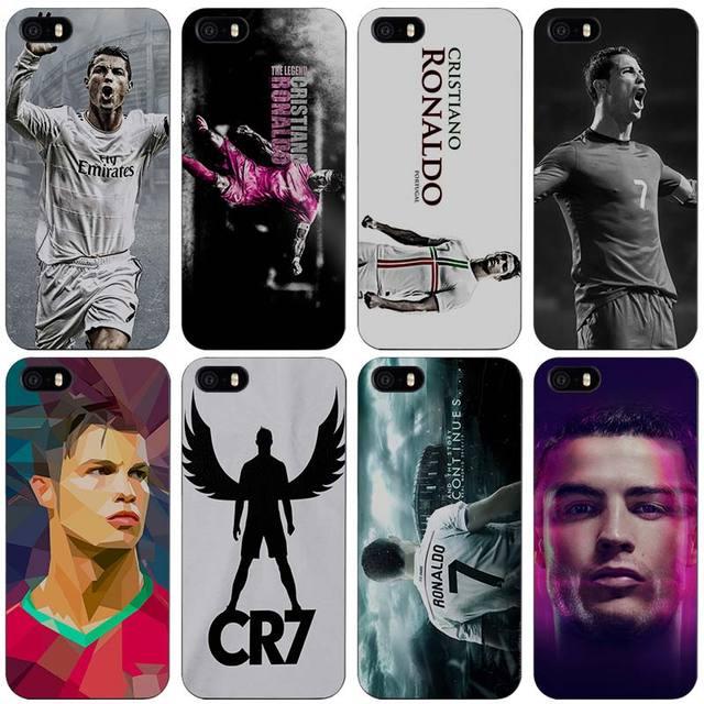 Cristiano Ronaldo CR7 Love Football Portugal Hard Black Plastic Case Cover for iPhone Apple 4 4s 5 5s SE 5c 6 6s 7 7s Plus