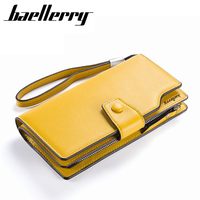 2016New Pu Leather Women Wallets Brand Design High Quality Cell Phone Card Holder Long Lady Wallet
