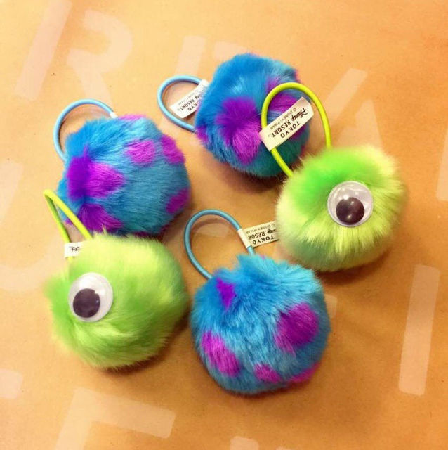da6e2c9f0a3 Monsters Inc. Mike Wazowski sulley sully plush ball hair band hair rope  jewelry toy