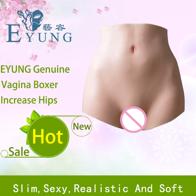 EYUNG New increase boxer Silicone vagina for crossdresser Fake Ass Buttocks enhancer Shaper Hip Up for