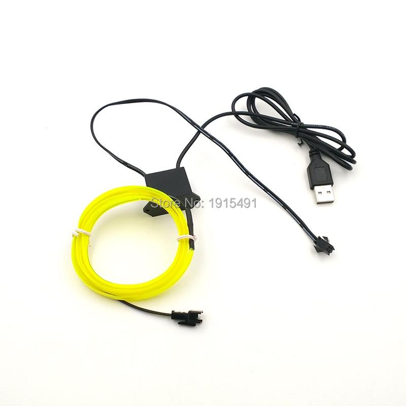 male plug Cable connector EL Lamp Foil Wire Neon Light