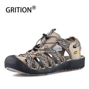Image 1 - Grition sandálias femininas praia verão respirável toecap esporte ao ar livre sapatos de borracha leve feminino casual conforto caminhadas sandálias
