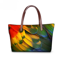 Novelty Large Women Handbag Shoulder Bags Designer Peacock Feather Print Lady Top Fashion Handle Bags Tote Bolsas Travel Bags