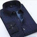Los Hombres de la marca Camisa de Los Hombres Camisa de Manga Larga Camisa de Estampado de Moda men's clothing camisa masculina camisas de ropa informal más el tamaño nuevo 2017