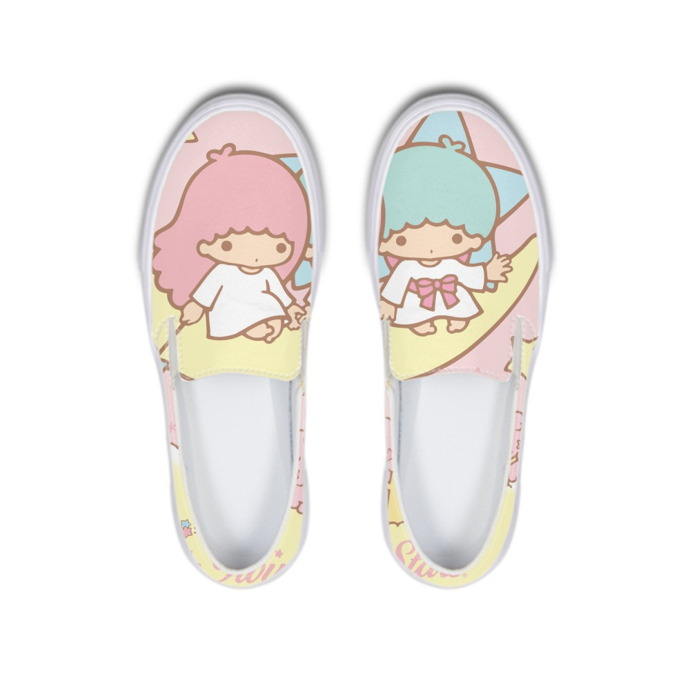 Kawaii Little Twin Stars Kiki Lala Flat Shoes Teenage Girls Women Rubber Lazy Platform Ladies Loafers