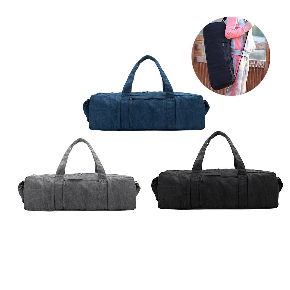 Durable Thicken Multifunction Outdoor Fitness Yoga Mat Bag Handbags Canvas Polyester Backpack Shoulder Gym Sports Bag Carrier multifunction canvas gym bag women sports bag backpack for fitness outdoor travel handbags durable training shoulder bags x440wa