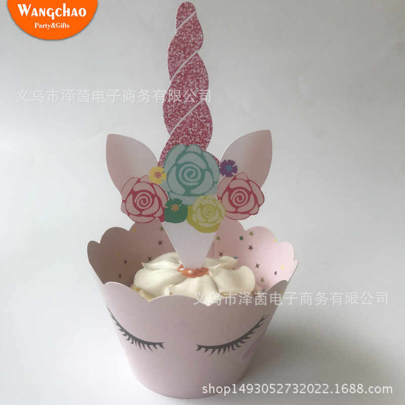 Detail Feedback Questions About 24pcs Bag Unicorn Cake Toppers Happy