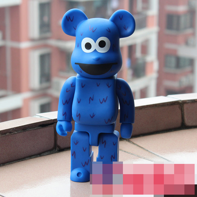 400% Be@rbrick 11 inch bearbrick Sesame COOKIE MONSTER PVC action figure medicom toy figure Toy Brinquedos Anime