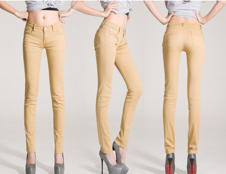 Women Khaki Skinny Jeans Photo Album - Fashion Trends and Models