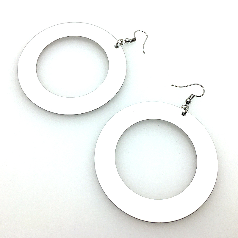 Купить с кэшбэком YD&YDBZ 2019 Fashion Round Circle Earrings For Women Handmade Aluminum Sheet Big Drop Earrings Harajuku Punk Style Party Jewelry