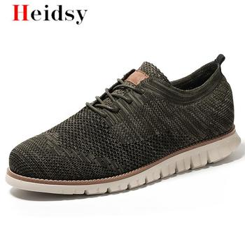 2020 Autumn New Vintage Men Mesh weaving Casual Shoes Men's Business Formal Brogue Weave Carved Oxfords Wedding Shoes Breathable